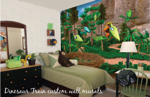 High Quality Dinosaur Train Wall Mural Giveaway Part 28