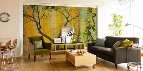 living rooms murals