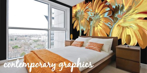 contemporary graphics murals